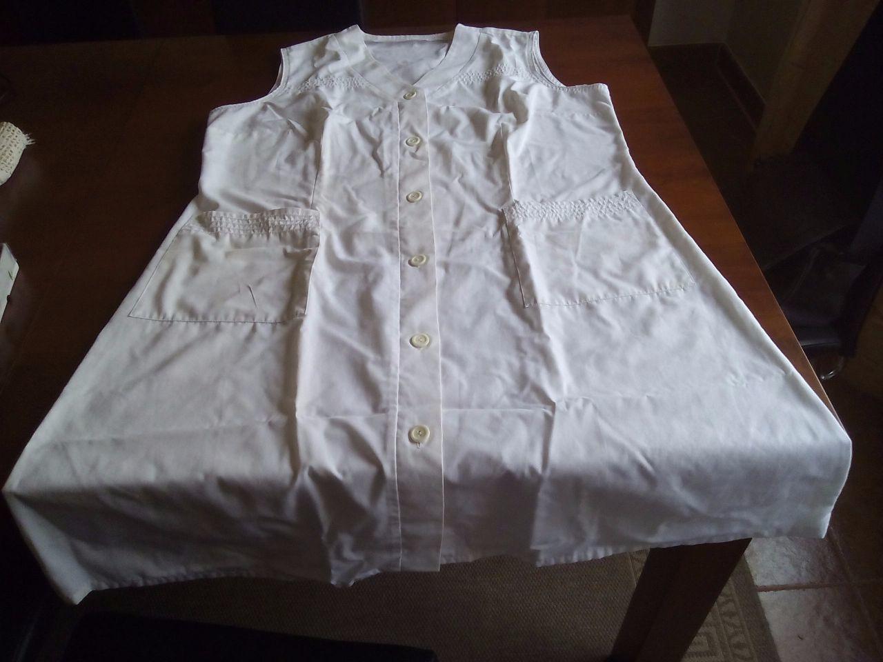 Bata branca 100% algodão, tamanho XL - 1/2