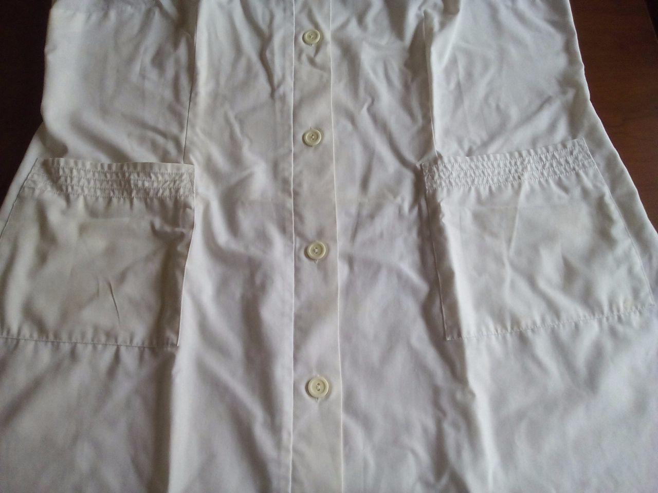 Bata branca 100% algodão, tamanho XL - 2/2