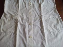 Bata branca 100% algodão, tamanho XL