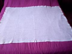 Manta/Colcha branca para cama de bebé. Nova.