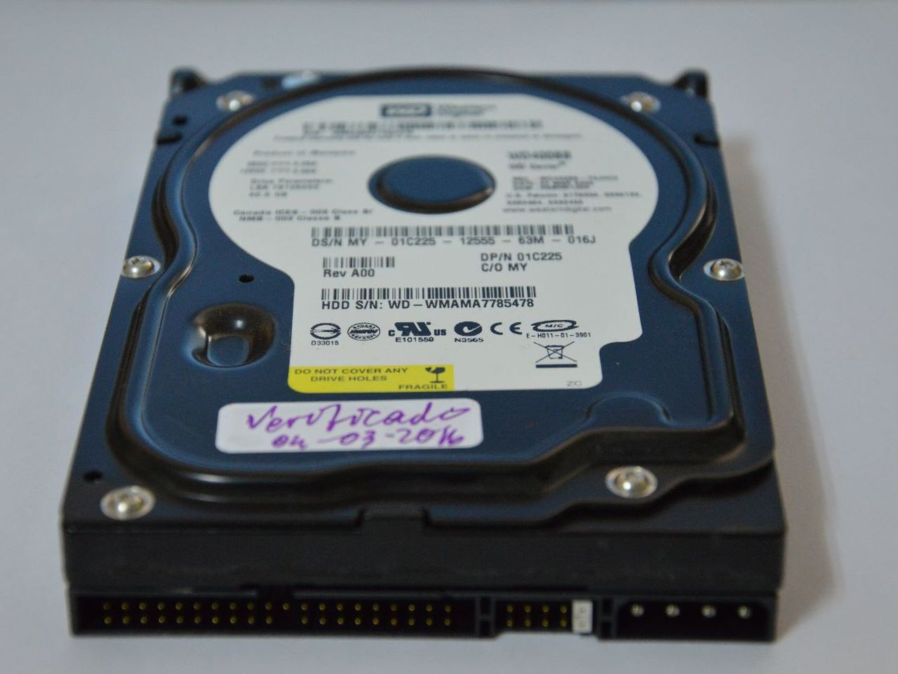 Vendo disco Wester Digital IDE, 40Gb - 1/2