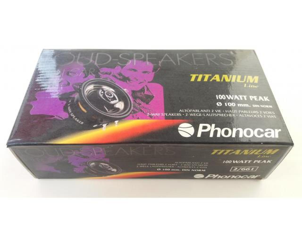 """Phonocar 2/661 - Colunas Phonocar de 4"""" (10Cm), 2 vias, 100W - 1/4"""