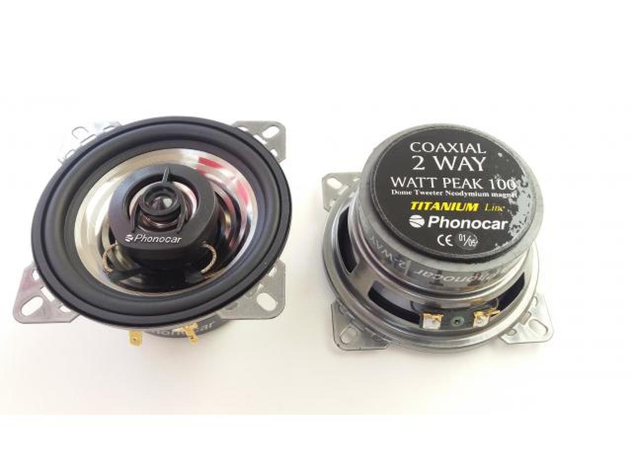 """Phonocar 2/661 - Colunas Phonocar de 4"""" (10Cm), 2 vias, 100W - 2/4"""
