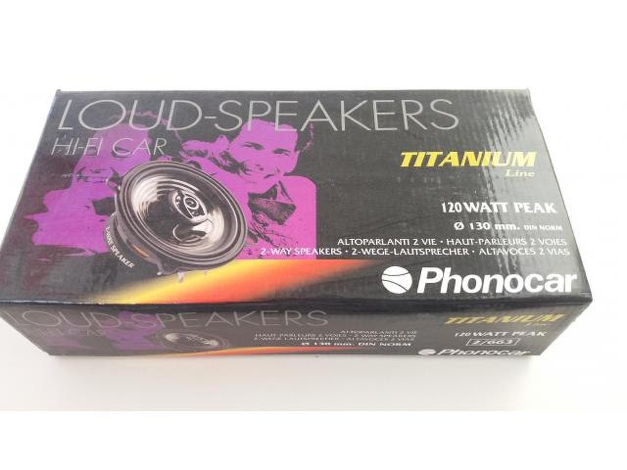 """Phonocar 2/663 - Colunas Phonocar de 5-1/4"""" (13.5Cm), 2 vias, 120W - 1/4"""