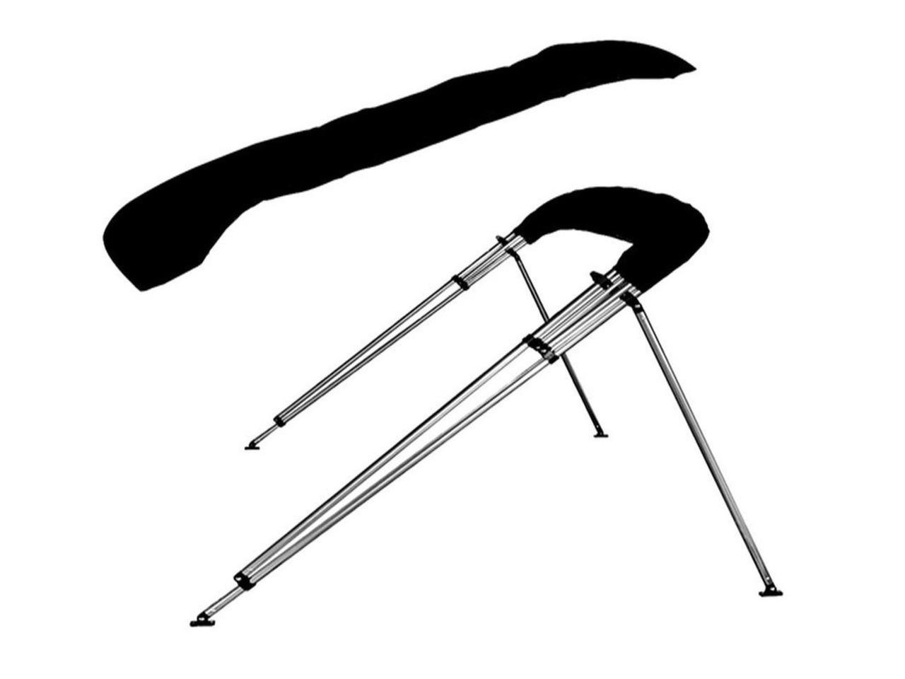 Toldo Bimini 4 arcos cor Preto largura 2,20m-2,40m - 3/5