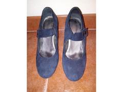 Sapatos de camurça azul escuro, nº39