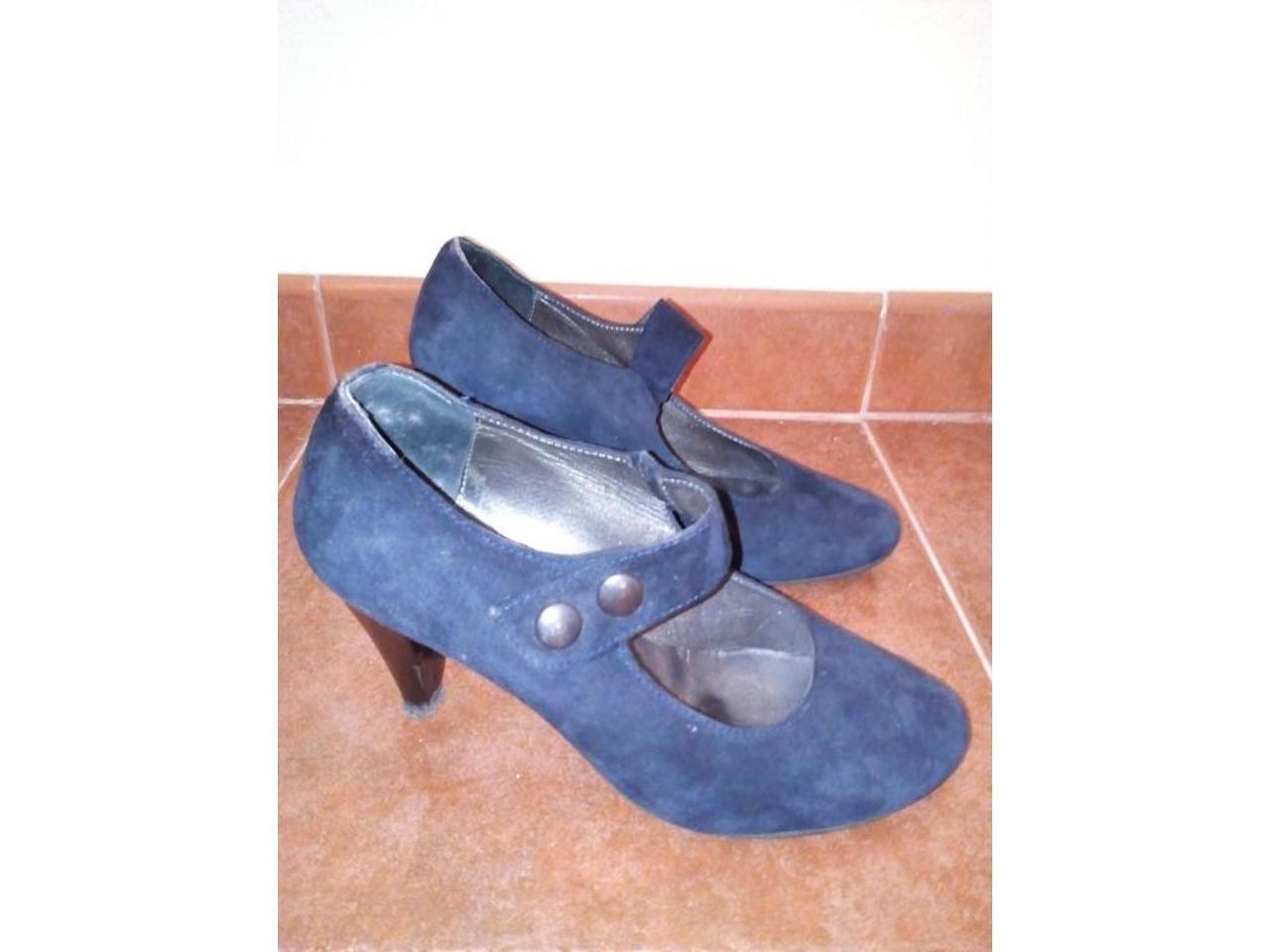 Sapatos de camurça azul escuro, nº39 - 4/5