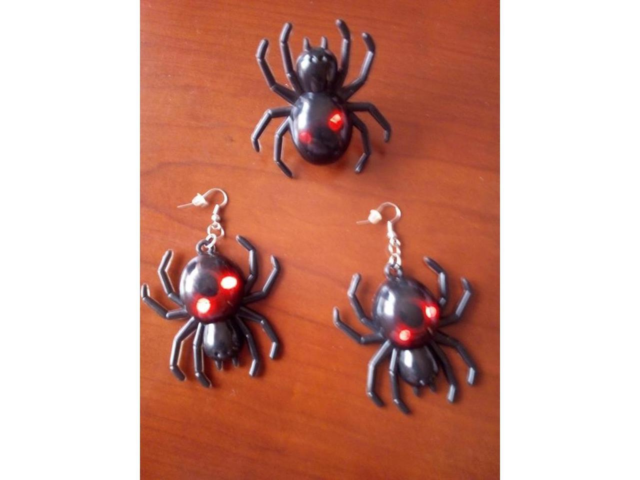 Conjunto de Halloween: Brincos e anel. - 1/2