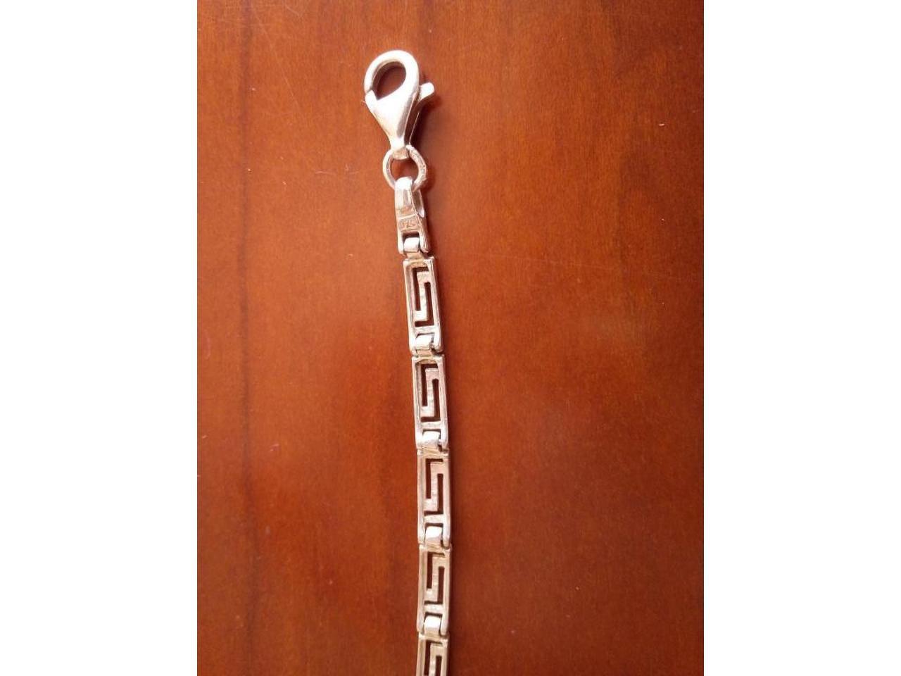 Pulseira e anel ajustável, em prata de lei. Unisexo. - 4/8