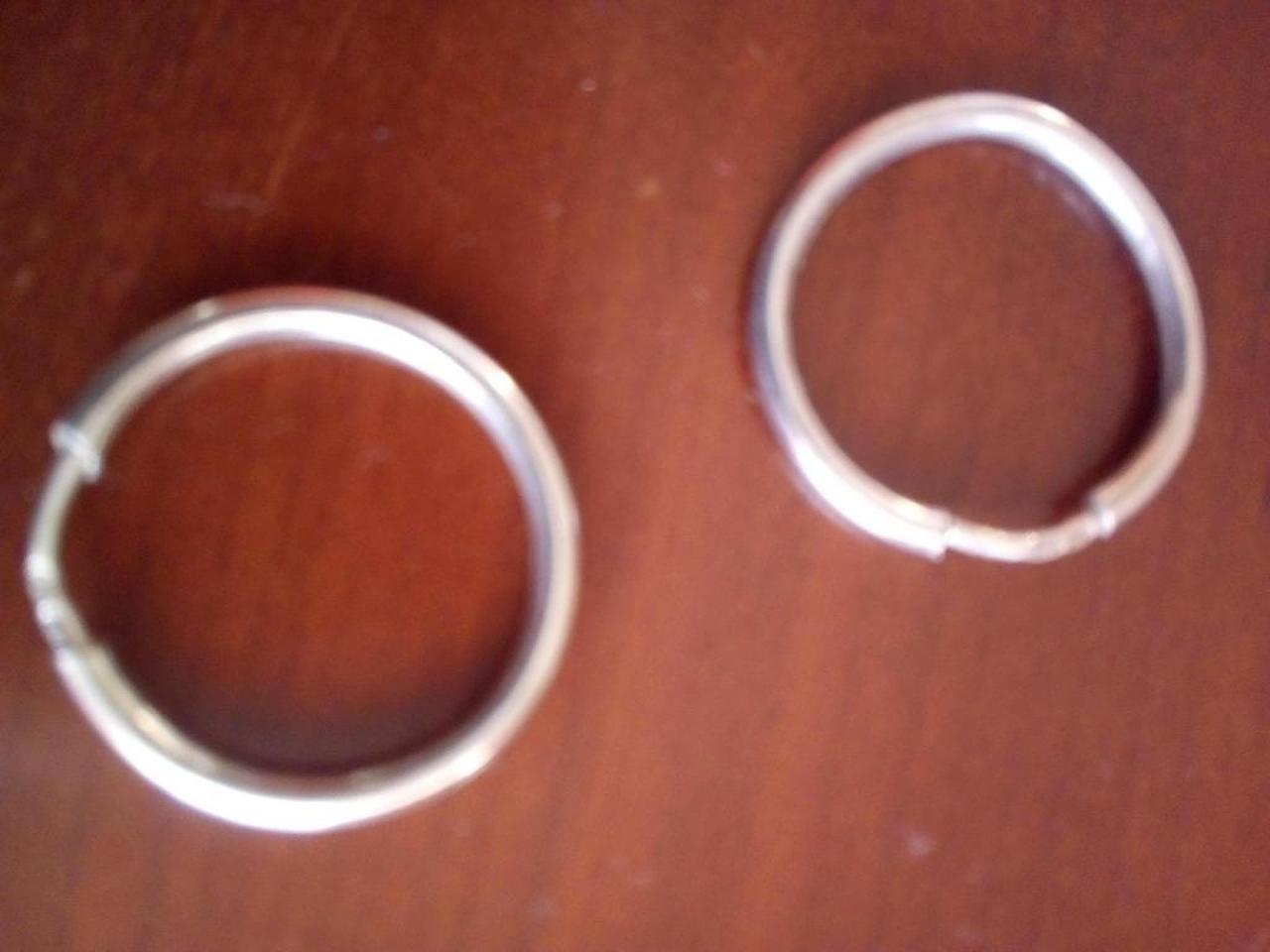 Conjunto: Pulseira, pendente/berloque  e argolas, em prata de lei. - 2/4