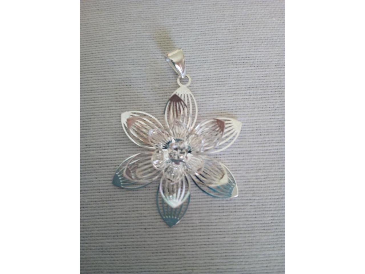 Brincos e berloque/pendente para colar/fio em prata. - 4/5