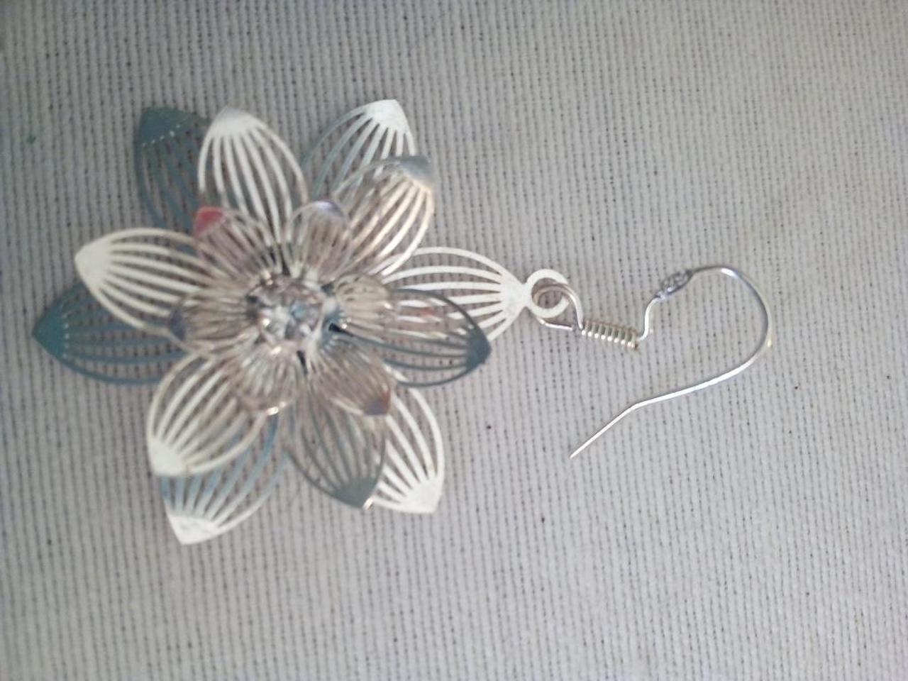 Brincos e berloque/pendente para colar/fio em prata. - 5/5