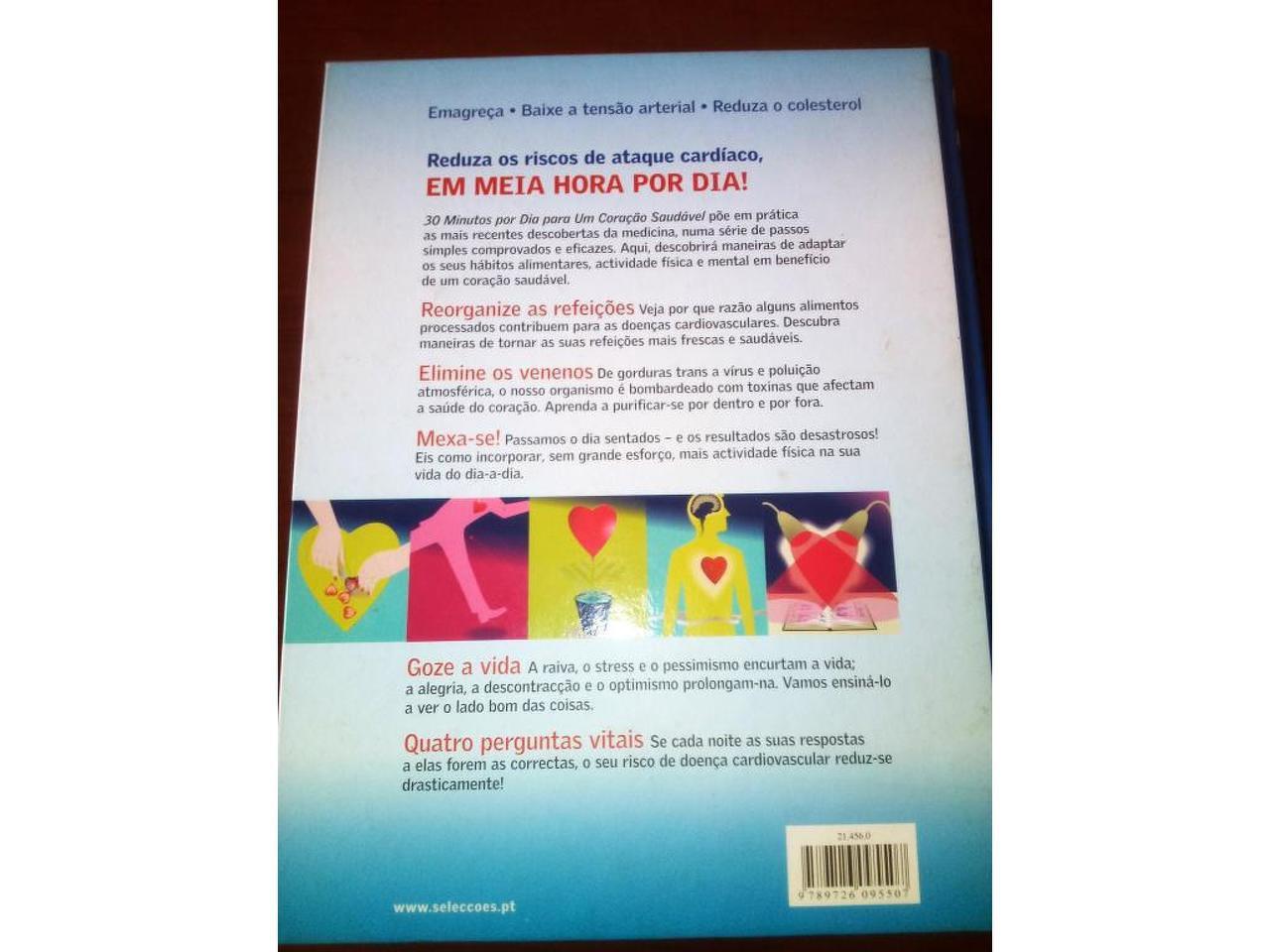 """Livro """" 30 minutos por dia para um Coração Saudável"""" - 3/3"""