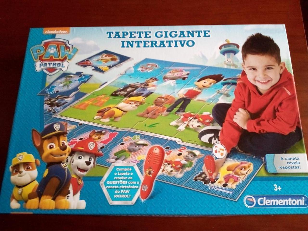 Tapete Gigante Iterativo Paw Patrol / Patrulha Pata, 3+Anos. Novo - 1/4