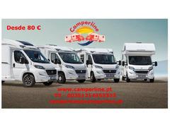 Camperline , aluguer de auto-caravanas desde 80€/dia
