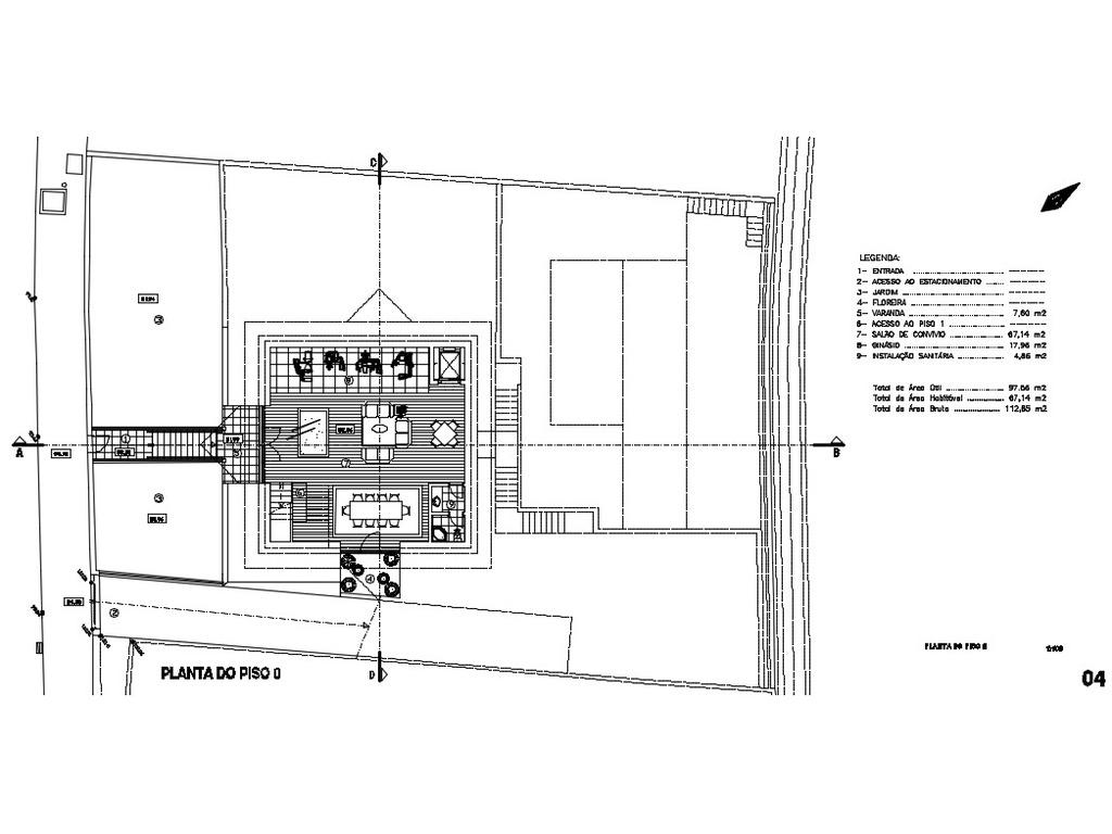 Terreno de 884m2 com Projeto para T3 LUXO - 9/12