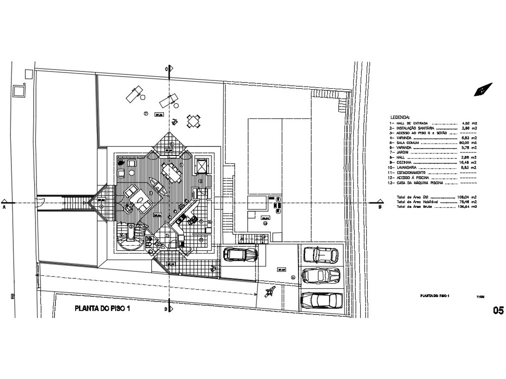 Terreno de 884m2 com Projeto para T3 LUXO - 10/12