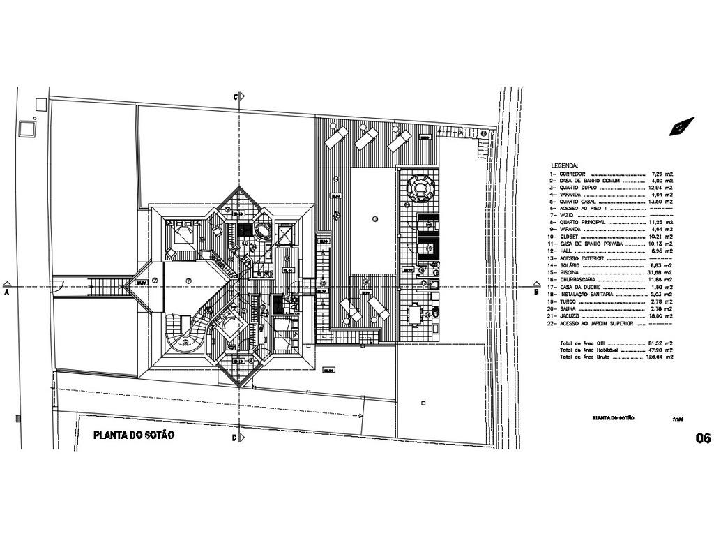 Terreno de 884m2 com Projeto para T3 LUXO - 11/12